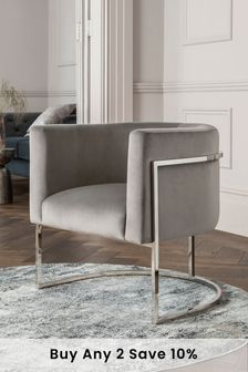 Mae Accent Chair With Chrome Legs