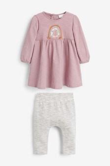 Rainbow Dress and Legging Set (0mths-2yrs)