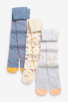 3 Pack Bunny/Carrot Tights