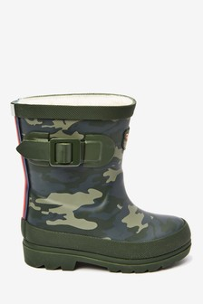 Tiger Warm Lined Buckle Wellies (Younger)