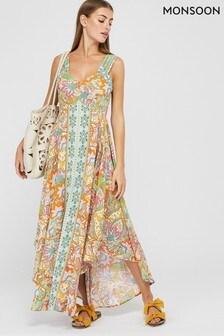Monsoon Multi Indah EcoVero™ Printed Dress