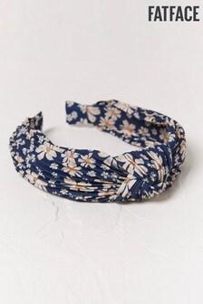 FatFace Blue Pleated Floral S Headband