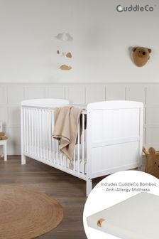 Juliet CotBed with CuddleCo Harmony Sprung Mattress White