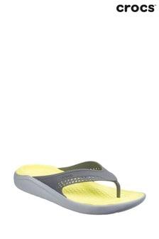 Crocs Grey LiteRide Flip Flops