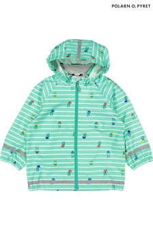 Polarn O. Pyret Green Waterproof Raincoat