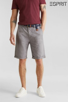 Esprit Grey Relaxed Slim Fit Chino Shorts