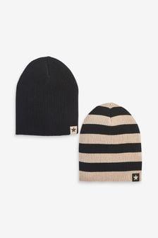 2 Pack Beanie Hats (3mths-10yrs)