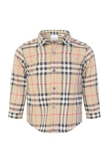 Baby Boys Vintage Check Fredrick Pocket Shirt