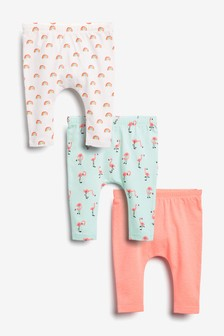 3 Pack Flamingo Leggings (0mths-2yrs)