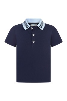 Fendi Kids Cotton Polo Top