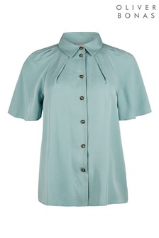 Oliver Bonas Green Angel Sleeve Shirt