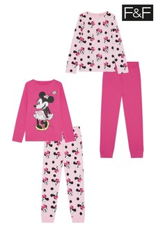 F&F Pink Minnie Mouse™ Pyjamas 2 Pack