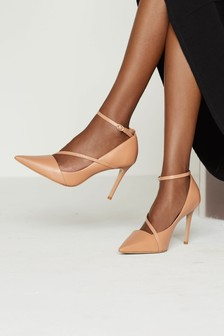 Signature Leather Strappy Court Shoes