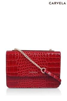 Carvela Red Jessica Back Pocket Cross Body Bag