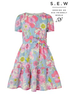 Monsoon Blue S.E.W Octavia Linen Dress