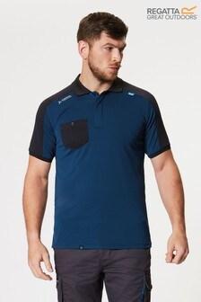 Regatta Blue Offensive Wicking Poloshirt