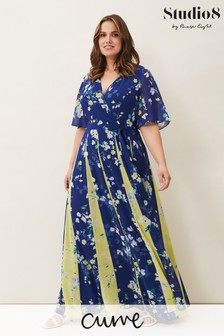 Studio 8 Blue Wren Floral Print Maxi Dress