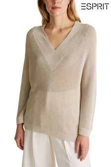 Esprit Cream Easy Knitwear Jumper