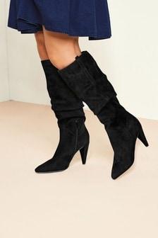 Vintage Heel Long Boots