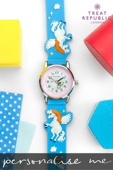 Personalised Unicorns And Rainbows Kids Watch by Treat Republic