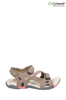 Cotswold Brown Whichford Touch Fasten Sandals