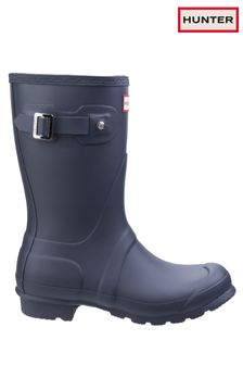 Hunter Blue Original Short Wellington Boots