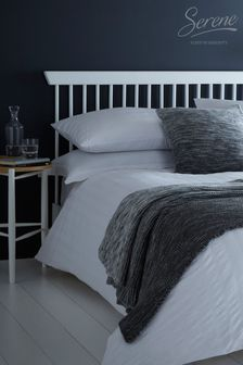 Seersucker Duvet Cover and Pillowcase Set by Serene