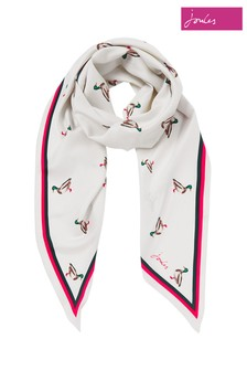 Joules Cream Asher New Diamond Shaped Scarf