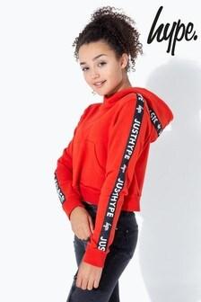 Hype. JH Race Tape Kids Crop Pullover Hoody
