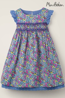 Boden Blue Nostalgic Smocked Dress