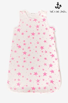 Noé & Zoë Neon Pink Stars Sleeping Bag