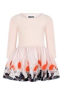 Baby Girls Pink Organic Cotton Bunnies Dress