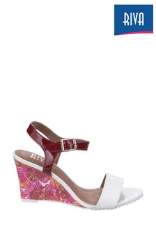 Riva White Elda Patent Ladies Sandals