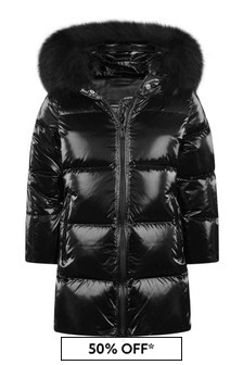 Girls Black Down Padded Jacket