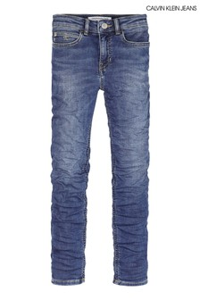 Calvin Klein Blue Skinny High Waisted Blue Jeans