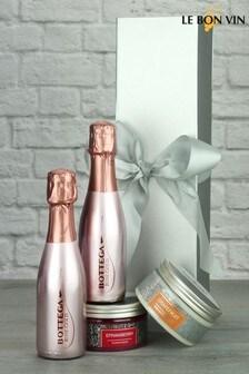 Bottega Rose Sparkling Wine & Pamper Products Gift by Le Bon Vin