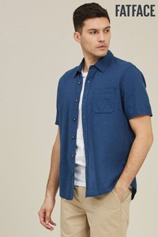 FatFace French Blue Tall Bugle Micro Check Shirt