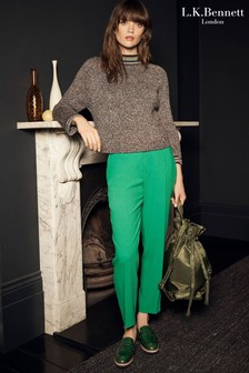 L.K. Bennett London Dark Green Trousers