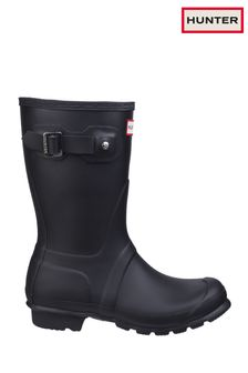 Hunter Black Original Short Wellington Boots