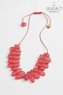 Seasalt Red Abstract Art Necklace