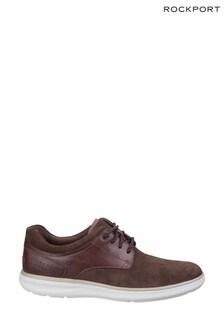 Rockport Dark Tan Zaden Pointed Toe Blucher Shoes