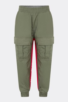 Boys Medium Green Trousers