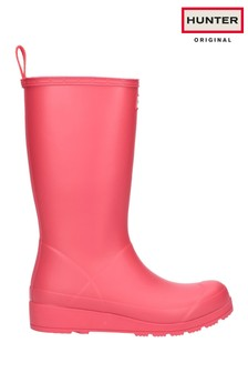Hunter Pink Original Play Tall Wellington Boots