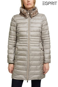 Esprit Grey Thinsulate™ Outdoor Jacket With Detachable Faux Fur