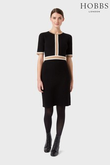 Hobbs Black Sadie Knitted Dress