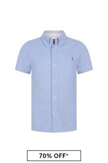 Ralph Lauren Kids Boys Blue Cotton Shirt