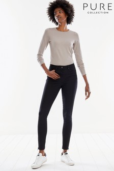 Pure Collection Black Slingsby Skinny Jeans