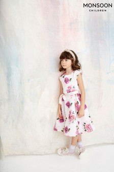 Monsoon Pink Deena Floral Dress