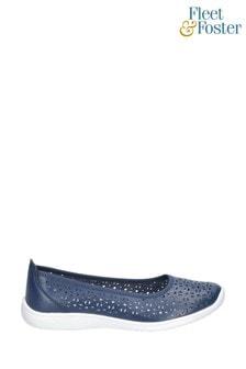 Fleet & Foster Blue Anne Slip On Shoes