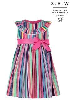 Monsoon  Pink S.E.W. Baby Ophelia Stripe Dress